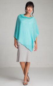 9c Sophie capelet Organic cotton crochet EV849 Sea Glass