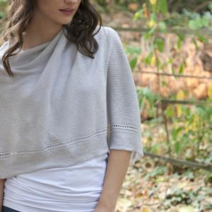 Organic-Cotton-Poncho-Grey