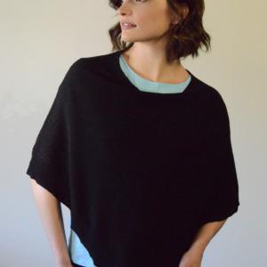 organic cotton capulet poncho, organic cotton ponchos, organic cotton sweaters online