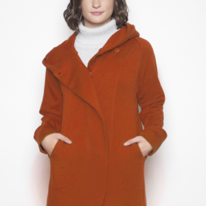 fleece hoodie, pumpkin colour hoodies, sustainable clothing canada