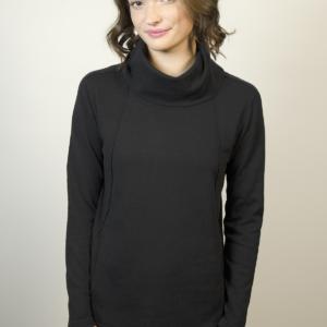 womens-black-pocket-sweater