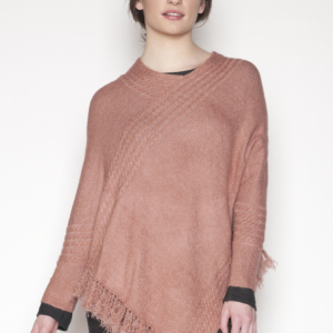 womens-pink-poncho