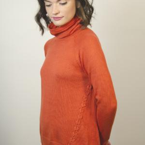 womens-orange-sweater