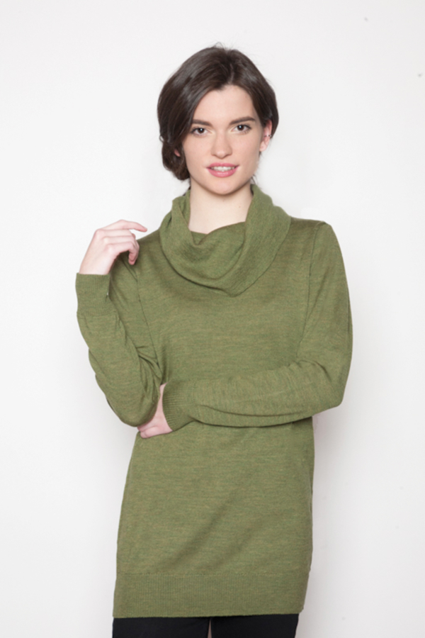 womens-green-cowl-sweater