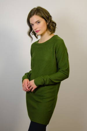 womens-green-tunic-dress