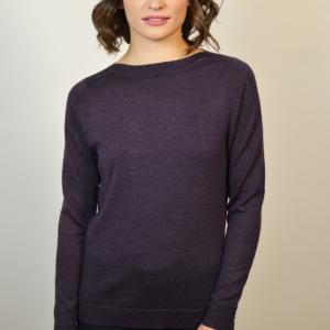 womens-purple-boat-neck-sweater