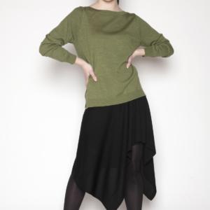womens-green-long-sleeve-sweater