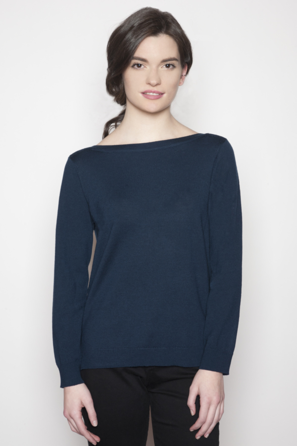 womens-boatneck-blue-sweater